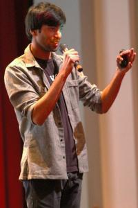 Ethan Magoc photo: Raymond Ablack spoke at Mercyhurst College on Tuesday, March 23, as part of the Mercy Week events.