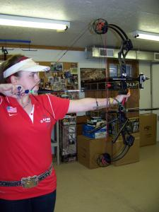 Caitlyn Merkel photo: Freshman KayLeigh Rogers entered the National Field Archery Association competition and won. She is one of the youngest archers to win this competition.