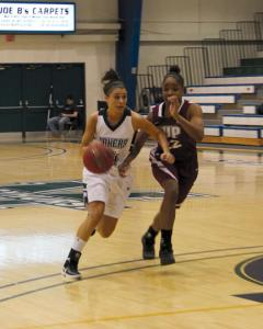 Jill Barrile photo: Junior Dana Banda is the floor leader for the Lakers. She has started all 16 games and leads the team with 4.6 assists per contest.