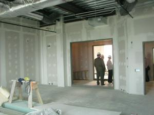 Staff photo: The classrooms will have large windows so those in the corridors can view students learning.