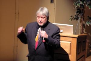 Nick Glasier photo: Gary Telgenhoff spoke at Mercyhurst College on Tuesday, March 16.