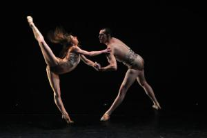 Tyler Stauffer photo: Dancers from Complexions Contemporary Ballet dance a pas de deux titled