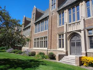 Taylor Rollins photo: The oldest section of Mercyhurst, Old Main, was built to last.
