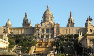 Barcelona national palace and art museum.