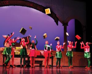 "Jill Barrile photo: Dancers acted the part of Santa's elves in the piece ""Santa's Toy Shop."""