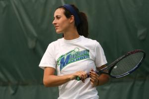 Ethan Magoc photo: Senior Kim Ezzo will soon complete her Mercyhurst College tennis career.