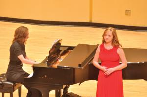 Tyler Stauffer photo: Kirstan Orgel sang a piece by Brahms this Tuesday at Student Forum.