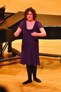 "Tyler Stauffer photo: Spinelli performed ""Les Oiseaux dans la Charmille"" at Tuesday's Student Forum."