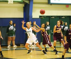 Sports Information photo: Senior Nikki Frederickson has stepped up this season, averaging nine points and six rebounds