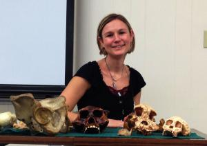 Casey Bleuel photo: Heather Garvin, Ph. D., will be heading to South Africa to study hominid fossils.