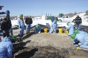 MAI photo: Dennis Dirkmaat, Ph. D., led a team of students that examined the remains of a gas well fire.