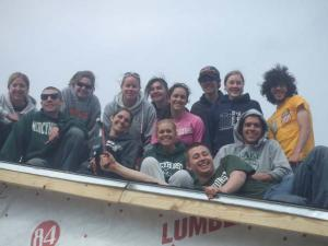 Mercyhurst student volunteers in New Orleans.