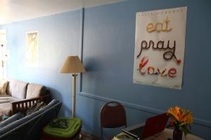 Ethan Magoc photo: As part of the renovations to the Highland Square Apartments, one wall in each living room is painted with a bright color.