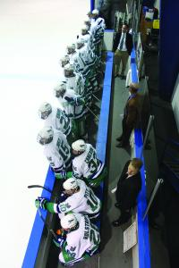 Ethan Magoc photo: The Mercyhurst College men's hockey team appears to be staying put in the AHA for the foreseeable future.