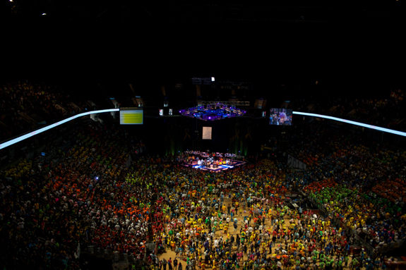 Photo by Keegan McGregor/The Behrend Beacon: Penn State's THON at the Jordan Center in State College.