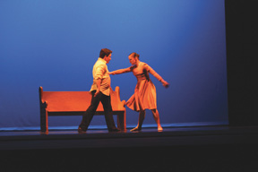 Sarah Hlusko photo: Two dancers have an argument during