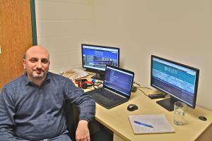 Salina Bowe photo: Recent Mercyhurst University graduate Aaron Williams has been influential in redesigning the school's website.