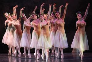 The dance ensemble performs one of the production's complicated dance numbers.: Ashley Favata photo