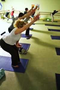 Students who attend yoga classes say it relax them and improves their health.