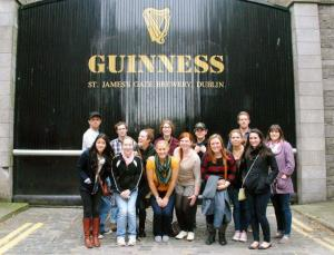 Contributed photo: Students enjoy the tour of the Guinness factory in Dublin, Ireland.