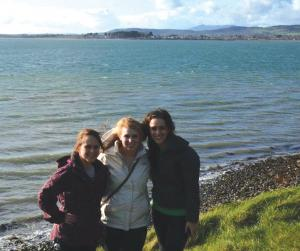 Contributed photo: Senior Lauren Verno and juniors Breda Knott and Alison Palmeri are all part of the study abroad program in Dungarvan, Ireland.