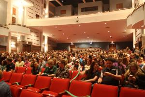 Ashley Favata photo: A huge crowd turned up to hear Bruce Jenner speak inside the PAC on Wednesday, Feb. 12.