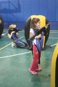 Ashley Favata photo: Kids played laser tag at the REC.