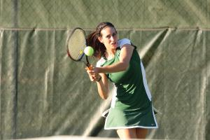 Sports Information photo: Senior Kim Ezzo led the Lakers to another strong season, finishing the season with an 18-6 overall record.