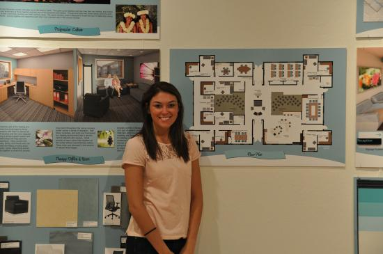 Dane Rimko: Senior Interior Design Major, Lauryn Donikowski, Stands In  Front Of Her Amazing Ideas