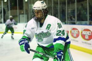 Mercyhurst College junior assistant captain Neil Graham made one of the Lakers' two goals in their 4-2 loss to Bentley Universit