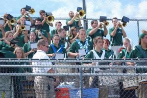 Making an appearance at home football games this year is Mercyhurst's band led by Robert Reid. The band will be travelling to An: Bob Reid photo