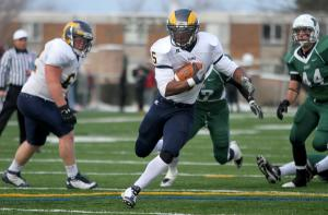 Ethan Magoc photo: Shepherd running back Nate Hoyte scores a touchdown during the third quarter Saturday.