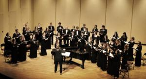Tyler Stauffer Photo: The Mercyhurst Concert Choir, conducted by Rebecca Ryan, gave a stunning performance including multiple repertoire pieces in Latin and a wonderful rendition of Pachelbel's Magnificat in G.