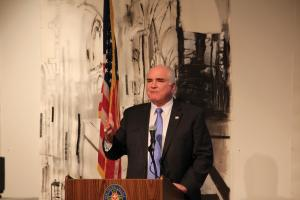 Jill Barrile photo: Rep. Mike Kelly visited the Mercyhurst campus Thursday, Oct. 20, to address students at a public affairs forum.