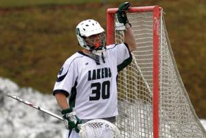Ethan Magoc photo: Senior Zach Nash has been the backbone of the Mercyhurst defense for the last two seasons. Nash has held every opponent this season, including the nations' top offense in Limestone, to under 10 goals. The Lakers have two games remaining before post-season