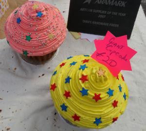 Giant cupcakes.