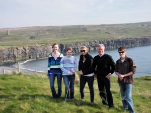 A group of students, along with Dr. Snyder, golfed a three par course on the coast of Ireland.