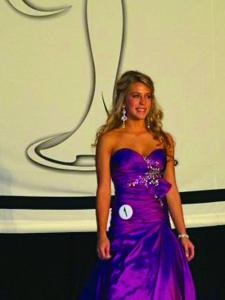 Contributed photo: Meryhurst College freshman Emily Adamski won Miss Congeniality at the 2009 Miss Teen Pennsylvania pageant.