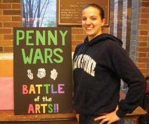 Lynn Dula photo: Senior dance major Christine Wilbur is one of the organizers of the Penny Wars.