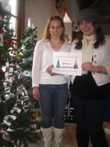 Smith and member Clare Meccariello promote Project Abolition by participating in the RSCO Christmas Tree Contest