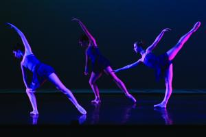 Jill Barrile photo: Choreography III and Senior Seminar students put together pieces to present this weekend.