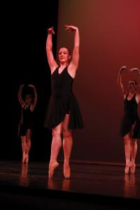 Jill Barrile photo: Junior Olivia Boyd danced in last year's Raw Edges.