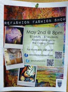Sami Rapp photo: Fashion students advertise event on creative poster.