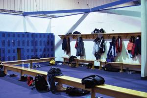 Tyler Stauffer photo: The previous changing room in the Rec Center is seen in this Jan. 2010 Merciad file photo.