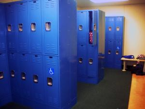 Jill Barrile photo: Mercyhurst's Rec Center now features a full locker room complete with showers and individual changing stalls.