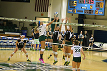 The Mercyhurst volleyball team is currently 7-2 for the season. Pictured above is junior Lexi Stefanov (2) who has been an impor: Salina Bowe
