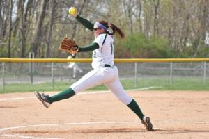 Sports Information photo: Freshman Annie Truelove has the ability to be a four-year star for the softball team. She has the physical tools,and now is just gaining the experience.