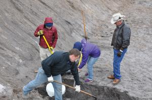 A.E. Marjenin photo: Zach Nason, second from right, and Michelle Farley, second from left, are among those taking part in the Vero Beach dig.