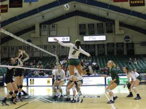 Alison Ockasi photo: The Mercyhurst women's volleyball team ended their season with a 18-14 record including a 12-10 PSAC mark.