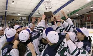 The lady Lakers earned the College Hockey America (CHA) Championship title on Saturday, Mar. 9.: Matt Durisko photo